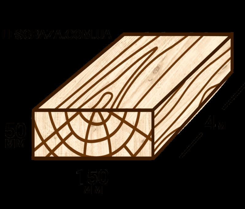 Обрезная доска 50х150 | Купить в Мариуполе