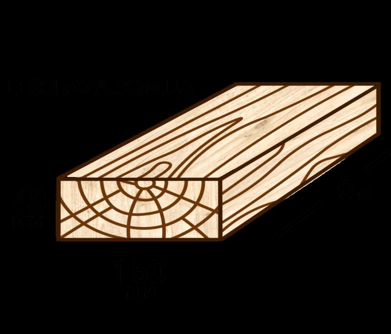 Обрезная доска 40х150 | Купить в Мариуполе